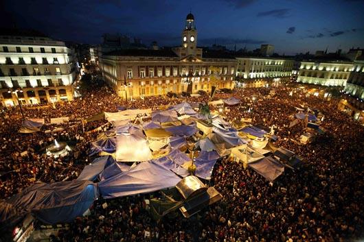 ¡Viva España! la protesta de los jóvenes y los trabajadores!
