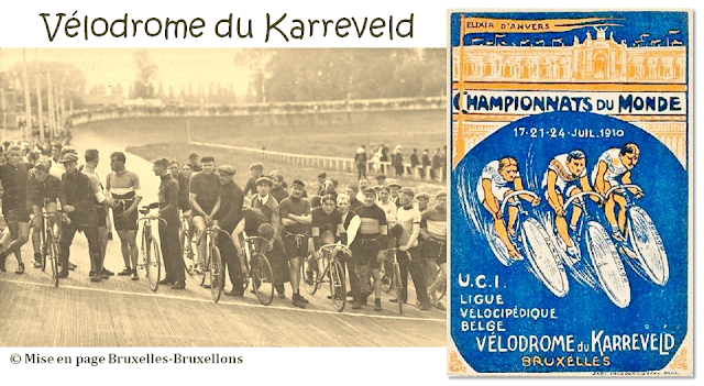 Château du Karreveld - Vélodrome du Karreveld avec une piste en bois inauguré en mai 1908 - Bruxelles-Bruxellons