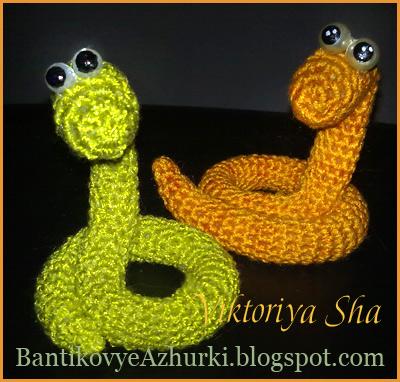 змея 2013 вязанная крючком