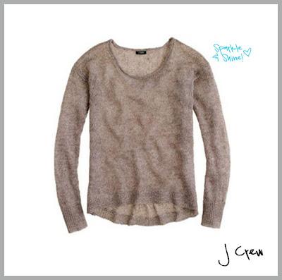 sparkly metallic linen sweater from j crew