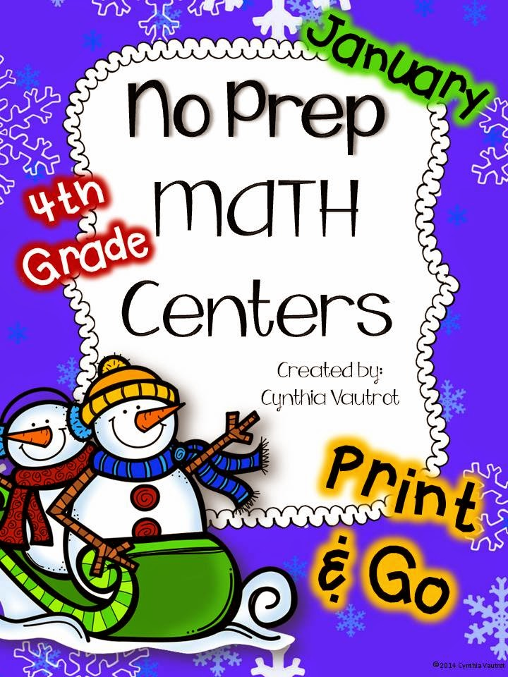 http://www.teacherspayteachers.com/Product/No-Prep-MATH-Centers-for-January-4th-Grade-1616409/
