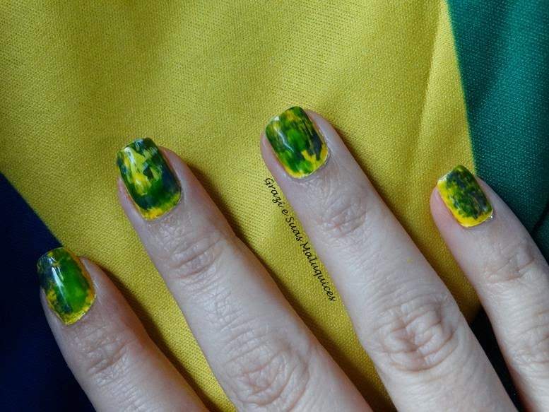 Distressed Nails - Nail Art para a Copa do Mundo