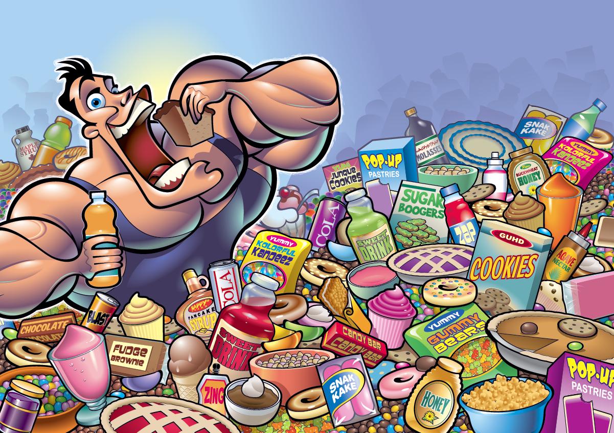 Ilustraciones de culturismo Sweet+tooth