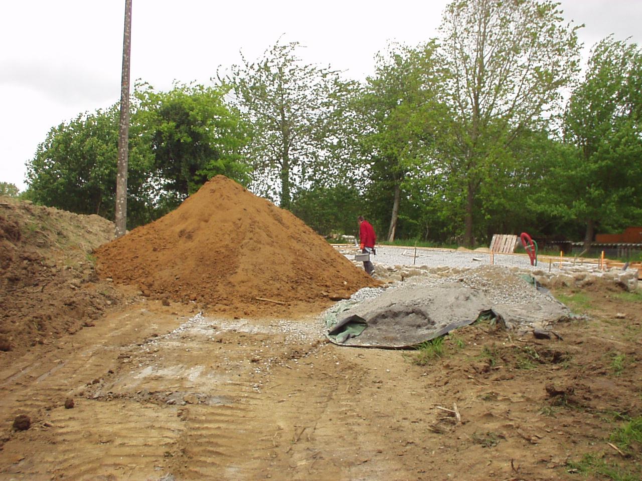 Maison terre et paille h risson - Proportion pour faire du beton ...
