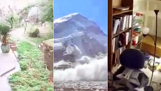 Different footage of the destructive Nepal earthquake.