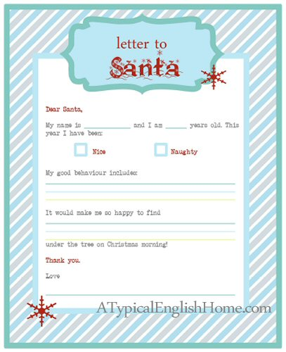 A typical english home freebie thursday letter to santa printable downloadprint letter to santa template pronofoot35fo Gallery