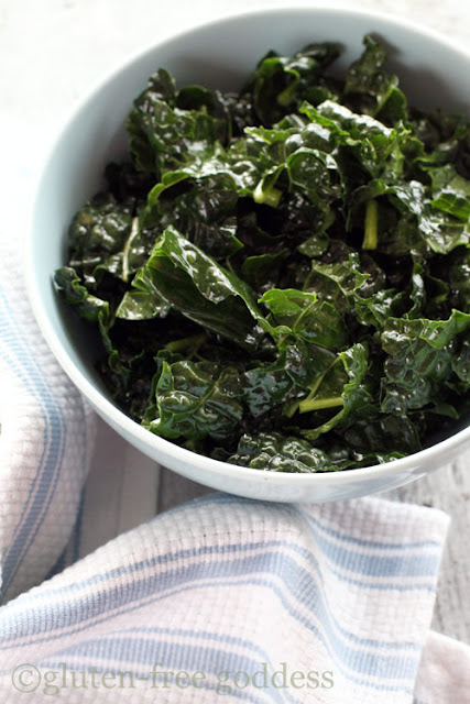 kale massaged with olive oil