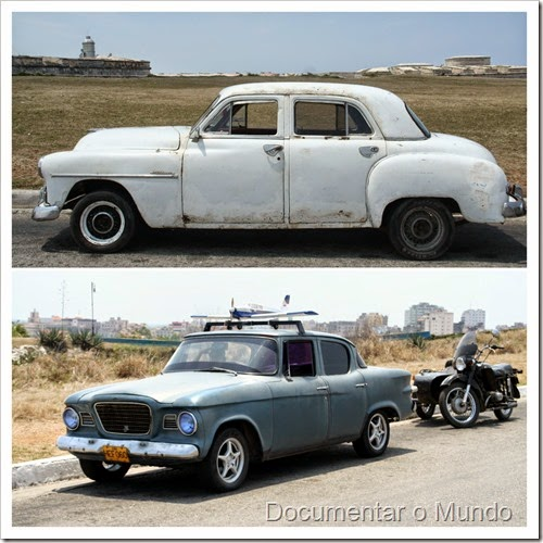 Automóveis típicos cubanos; automóveis antigos americanos; Havana