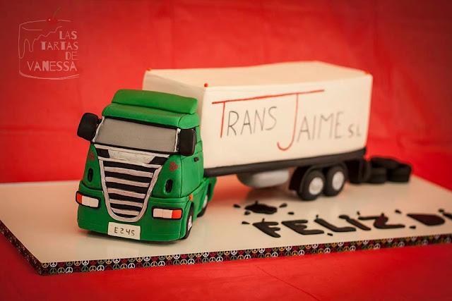 tarta camión 3d de fondant