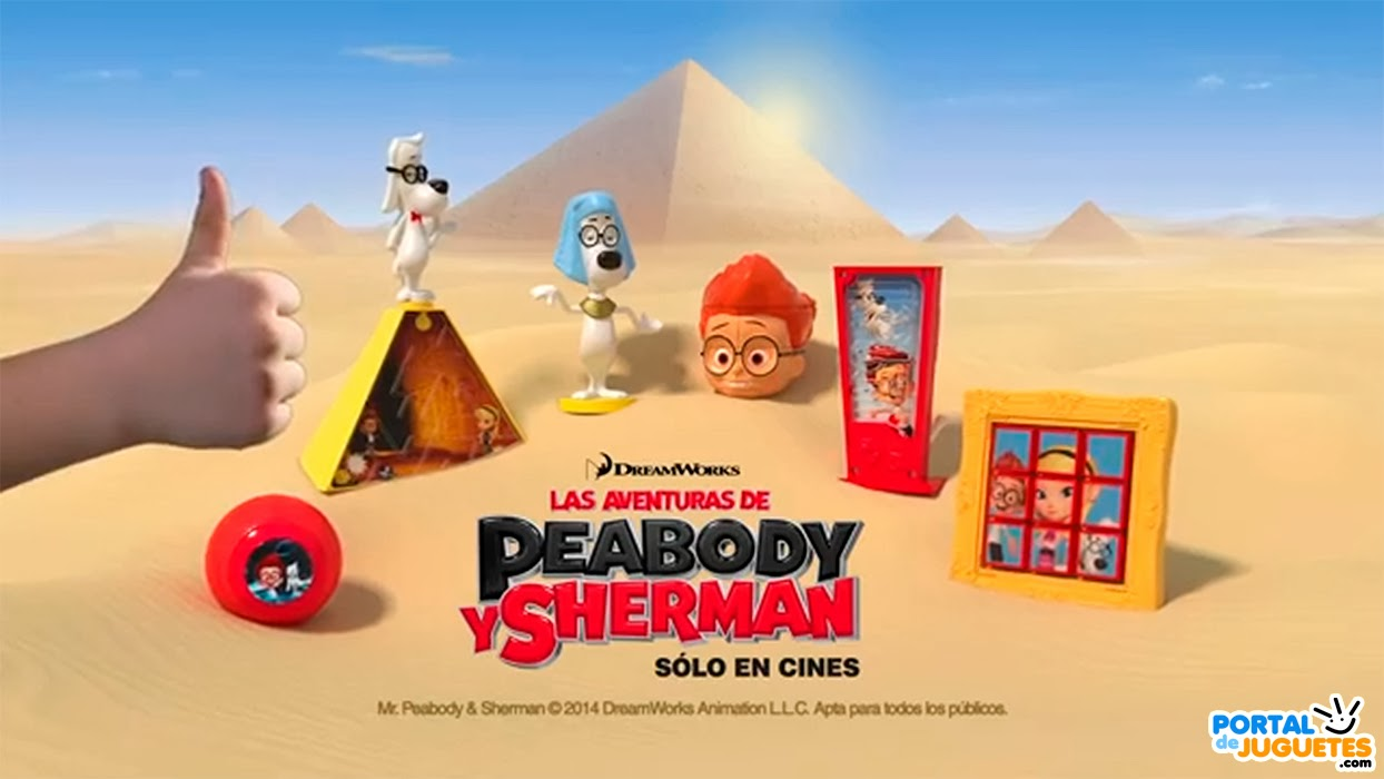 juguetes mr peabody y sherman happy meal mcdonalds