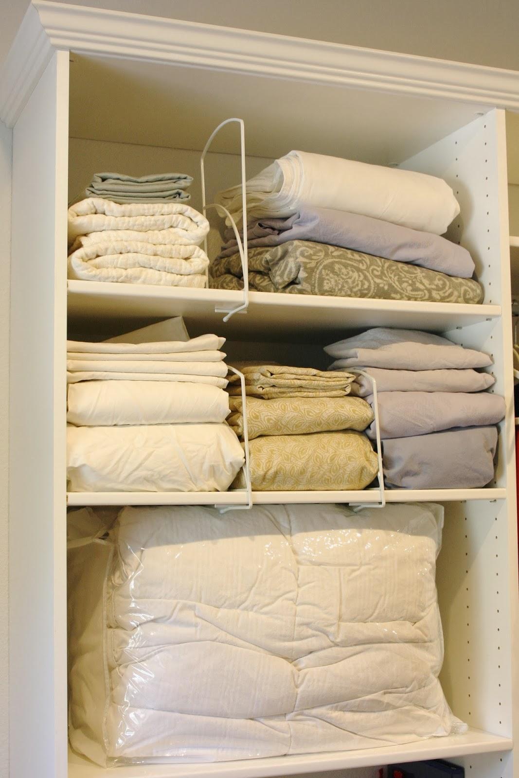 Simply Organized Organized Bedding