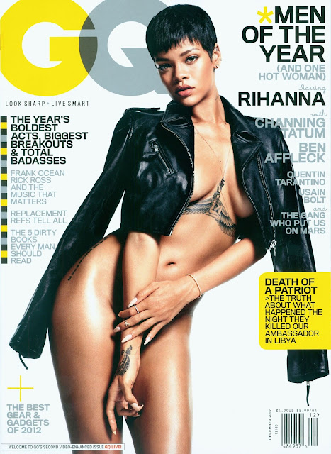 Rihanna poses Topless for GQ Magazine (December 2012)