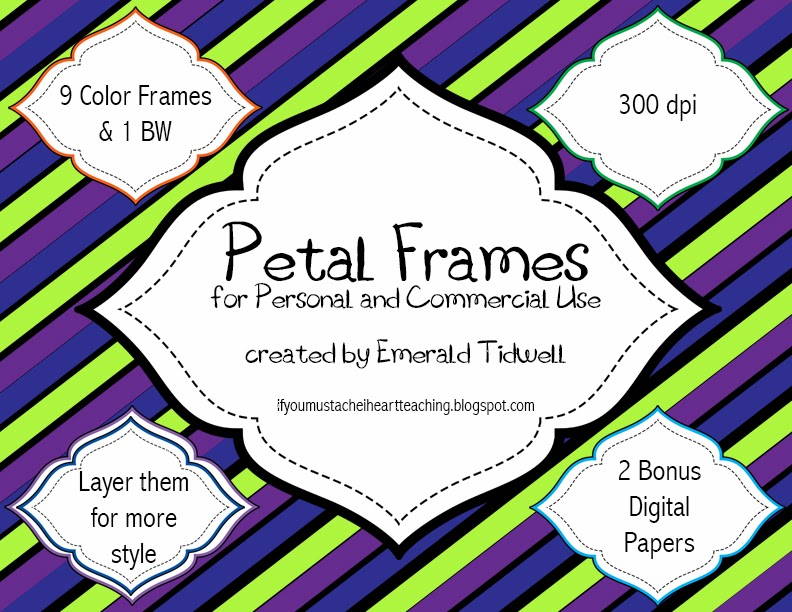 http://www.teacherspayteachers.com/Product/Petal-Frames-Pack-1089939