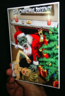 photo of a zombie christmas card produced by zazzle