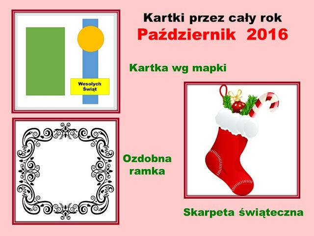 KARTKI PAZDZIERNIK - TARJETAS OCTUBRE