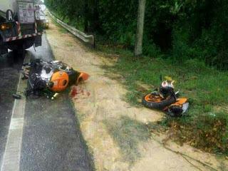 Motosikal Berkuasa Tinggi Dan Lori Tangki Di Kota Tinggi 30 Jun 2013
