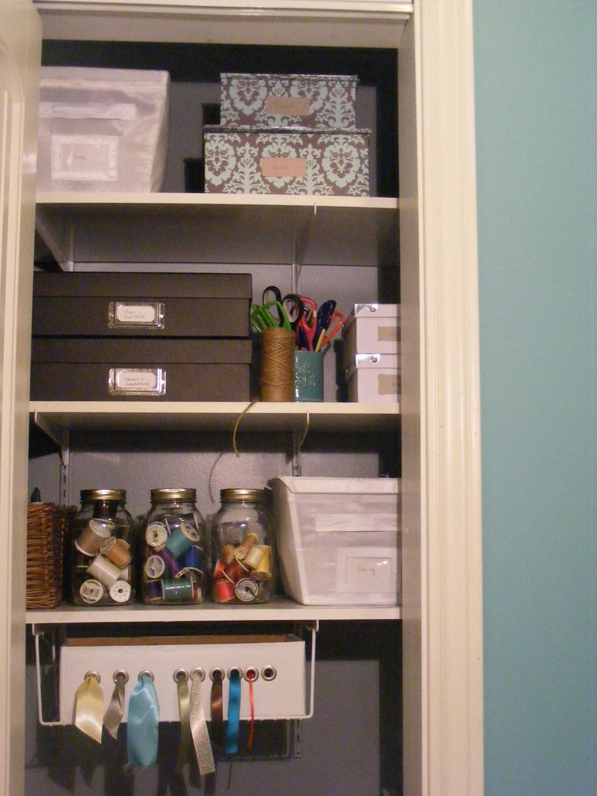 Craft closet organization ideas -  Organizedhome Day 30 My Craft Closet