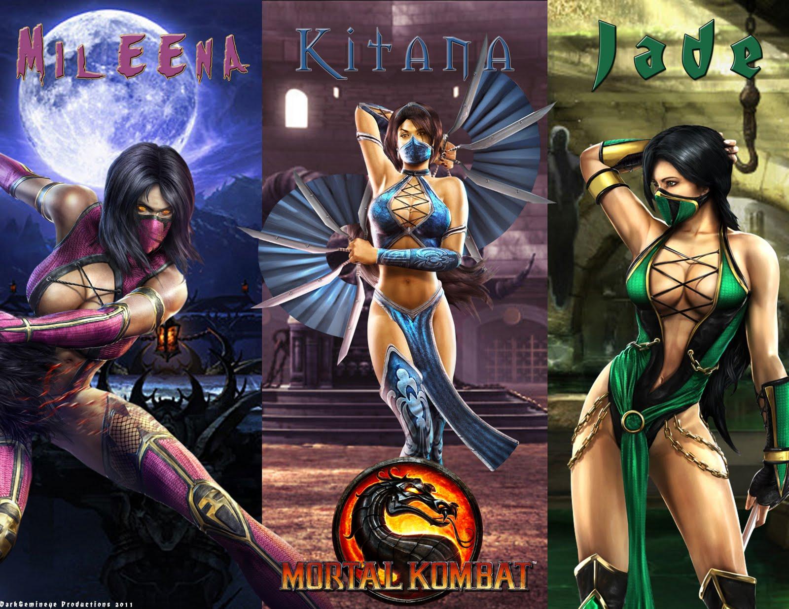 Jade Kitana And Mileena The Ladies Of Mortal Kombat 9 Wallpaper