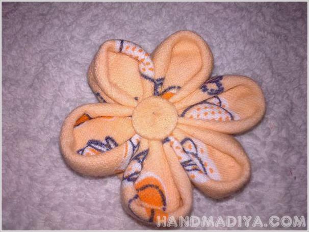 Цветок  канзаши. Мастер класс. Flower kanzashi. DIY step-by-step tutorials
