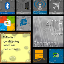 Windows Phone apps tiles