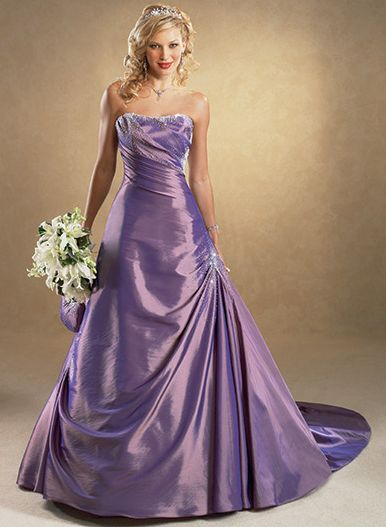 Purple Wedding Dresses For  : The dream wedding inspirations stylish purple dress