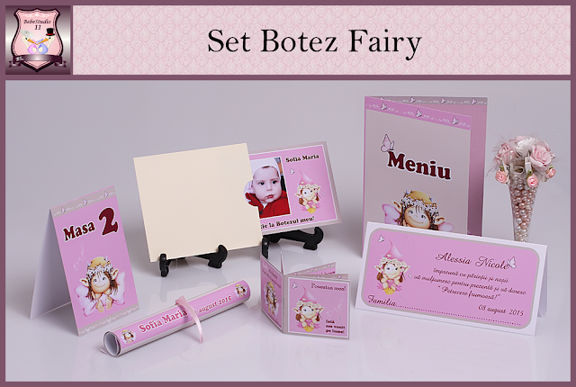 set marturii botez fairy