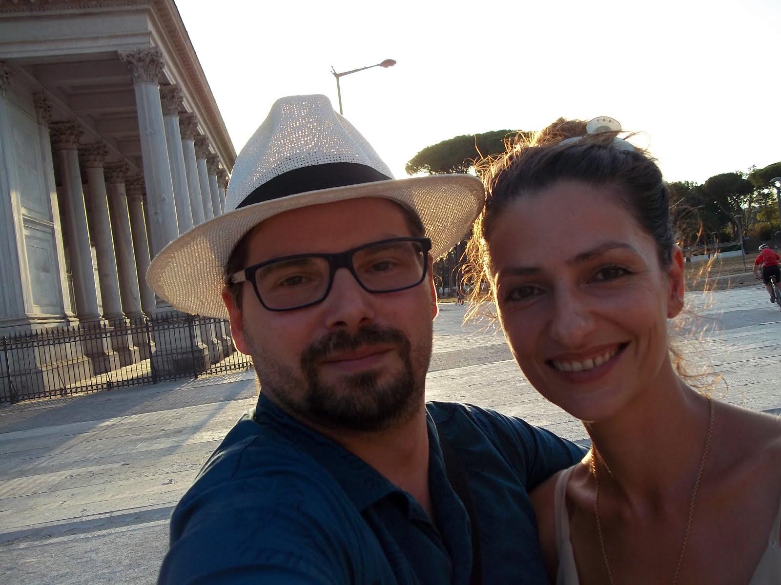 Luca Bagatin e la ballerina e coreografa Ralitza Kavaldjieva (agosto 2017)