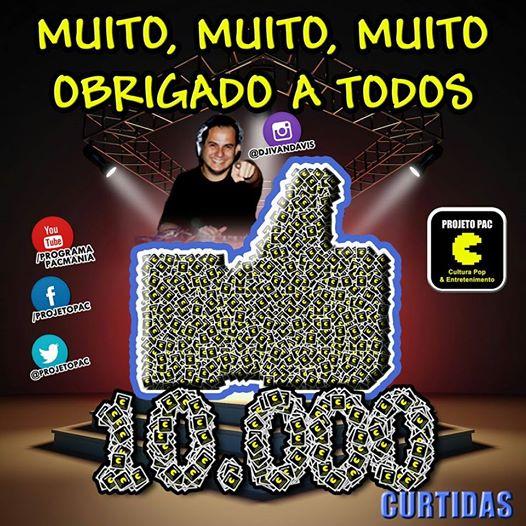 Página do Facebook alcançou 10 mil Curtidas!