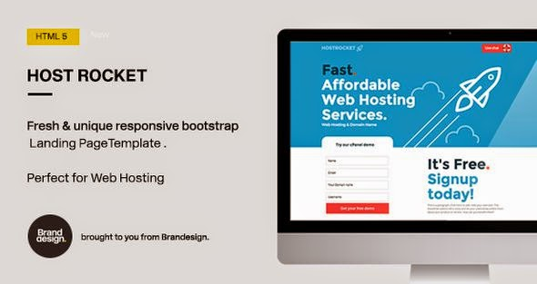 Hostrocket HTML5 Landing Page Template