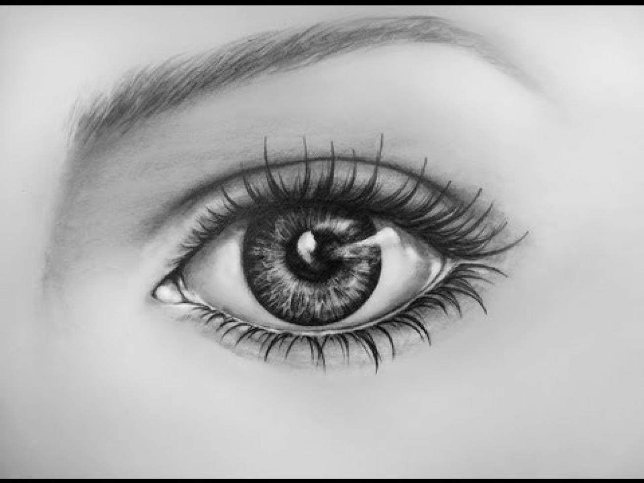 funny pictures eye drawing simple for female eye