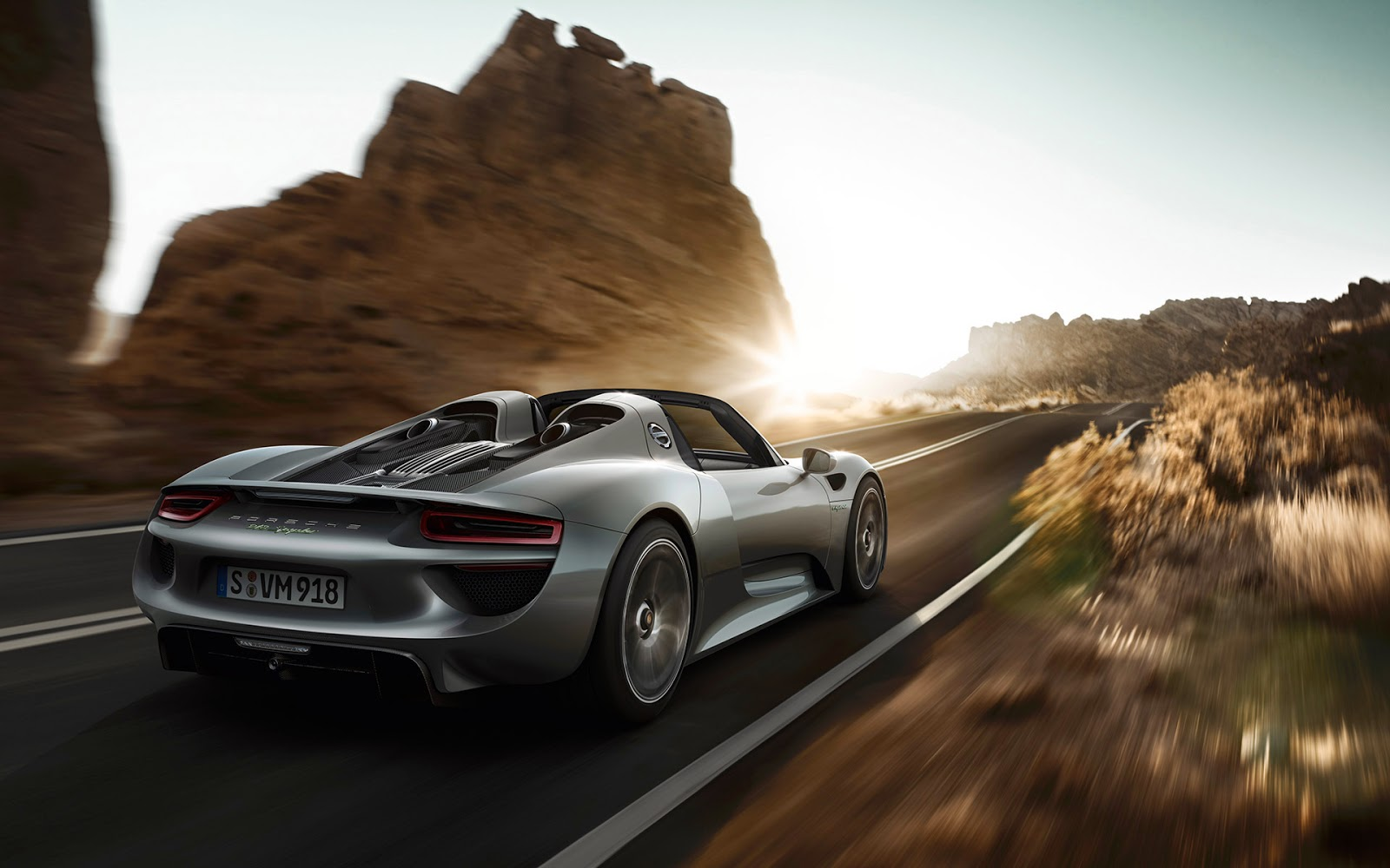 porsche 918 spyder on road wallpaper - Porsche 918 Spyder Wallpaper