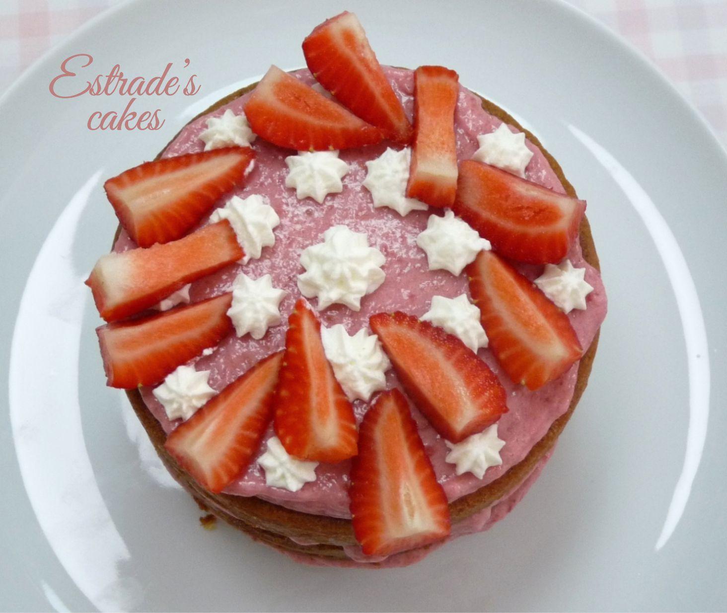 tarta con mousse de fresa - 7