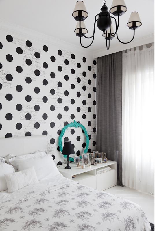 decorar quarto branco e preto