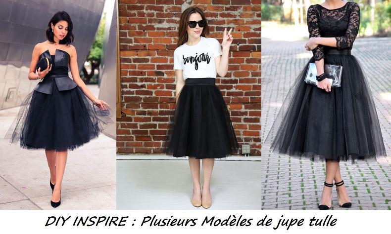 tenue de fête : couture facile plusieurs modèles de jupe tulle