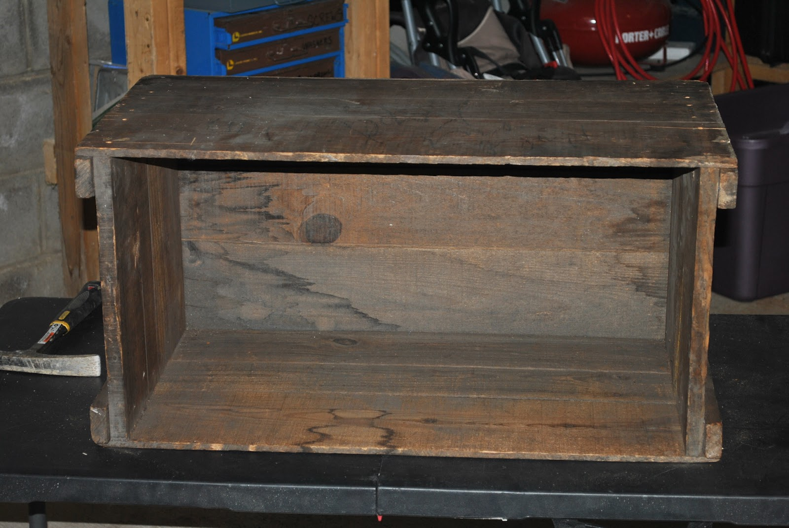 Freckle wooden crate diy projects side table and storage for Wood crate bench