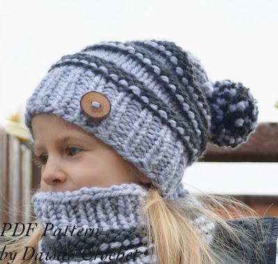 knitting slouchy hat pattern