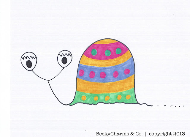 Dummberry in Disguise as Hippity Hoppity Easter Eggs 2013, 2013, faith, fruition, art, arte, design, illustration, drawing, sketch, Easter, beckycharms, dummberry, snail, San Diego,