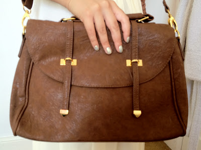 asos satchel bag, brown satchel bag, vintage, leather, pleather