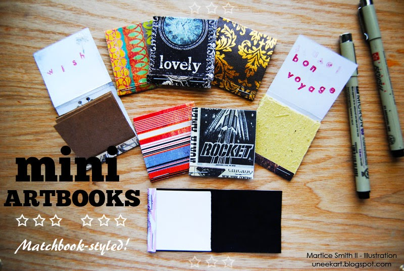 TUTORIAL: Mini ArtBooks: Matchbook-styled! by Artist Martice Smith II