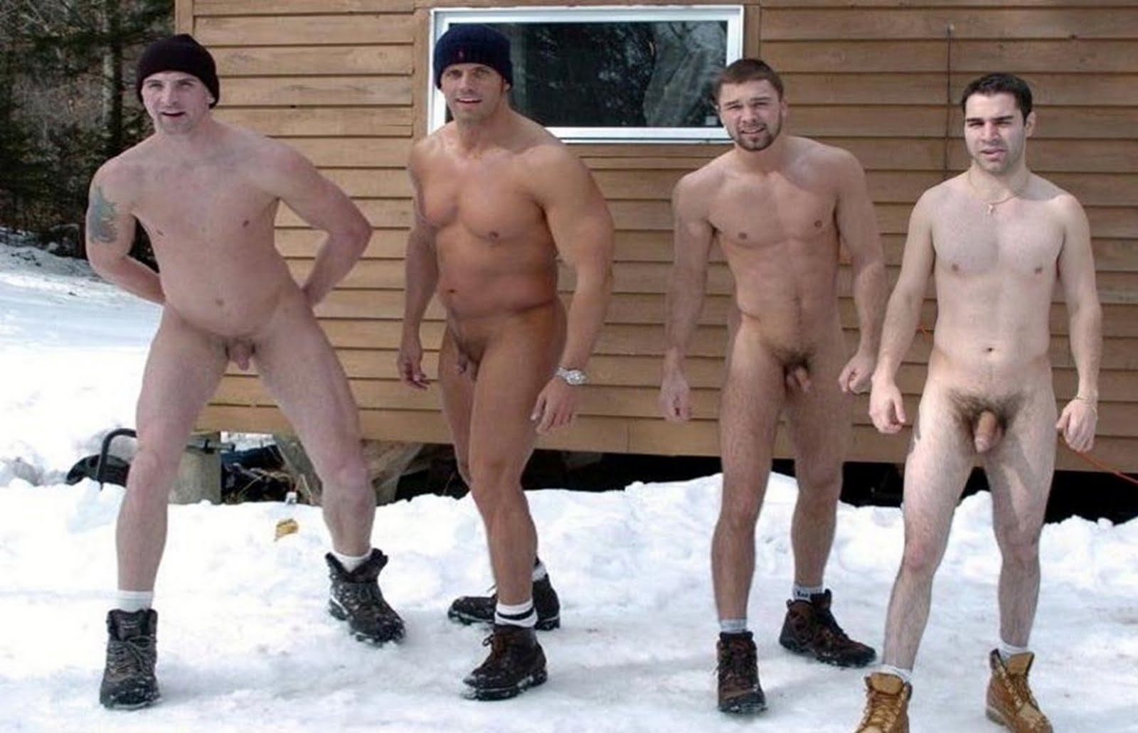 tall nudes in snow