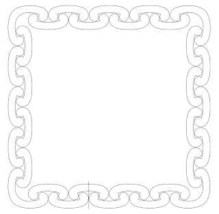 chain border free hand embroidery pattern