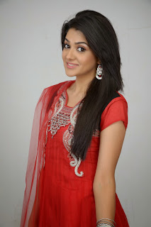Actress Sakshi Choudhary Latest Picture Gallery in Red Salwar Kameez 0016.JPG