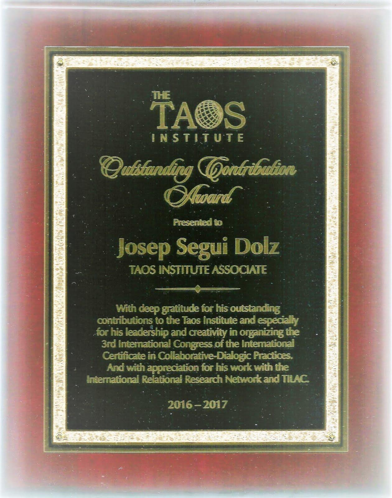 Reconocimiento del Taos Institute