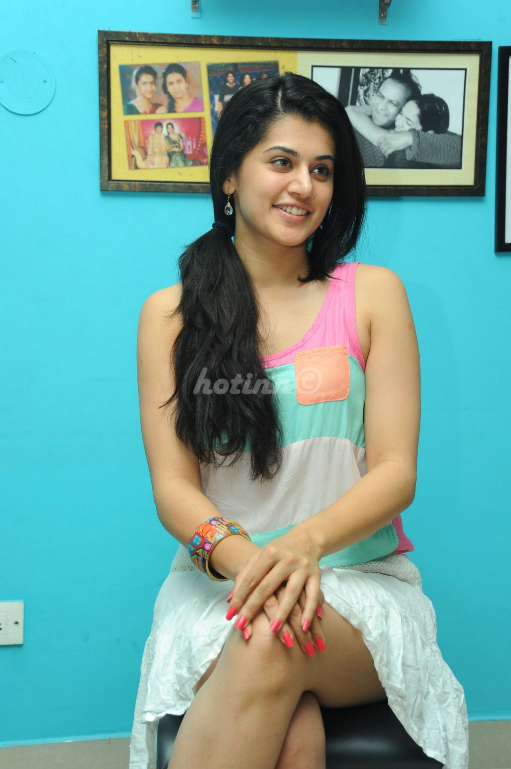 Tamil actress tapsee in short dress