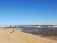pesca paisaje playa uruguay  turistas