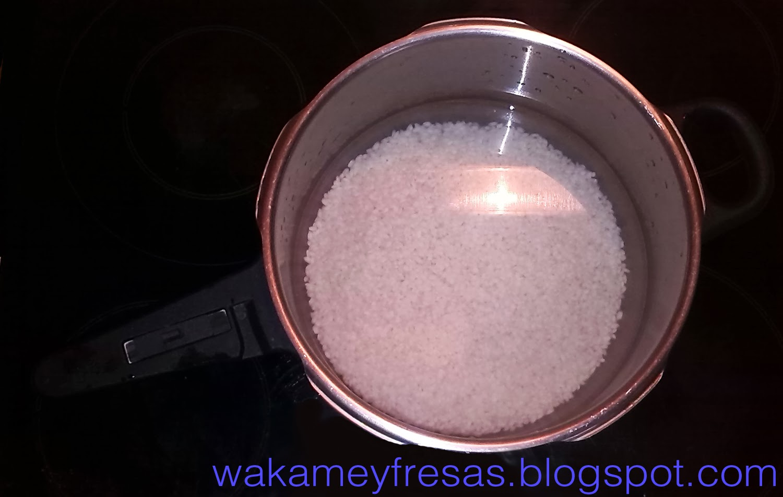 arroz en remojo