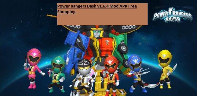 Power Rangers Dash v1.6.4 Mod APK Free Shopping