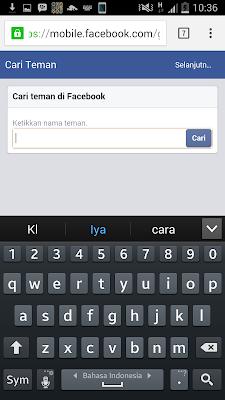 cara mencari teman di facebook
