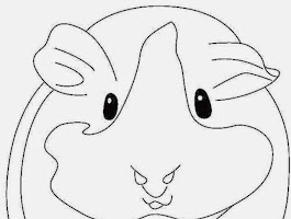 Cute Guinea Pig Coloring Pages