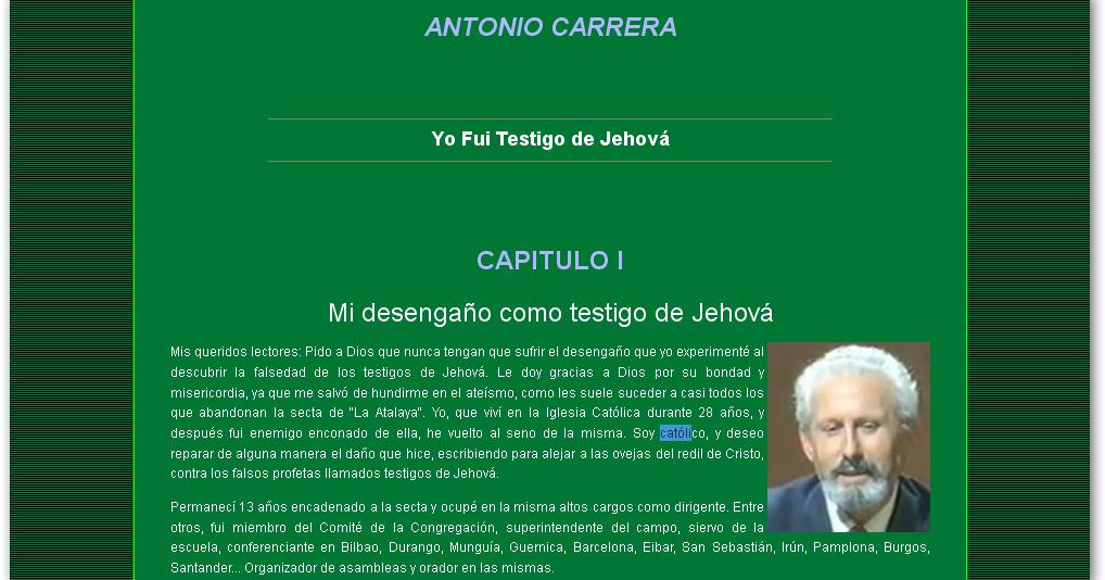 Matrimonio Catolico Y Testigo De Jehova : Unas palabras a favor de los testigos jehová